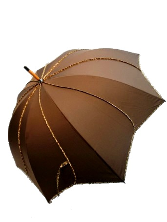 花形 ヒョウ柄手開き傘