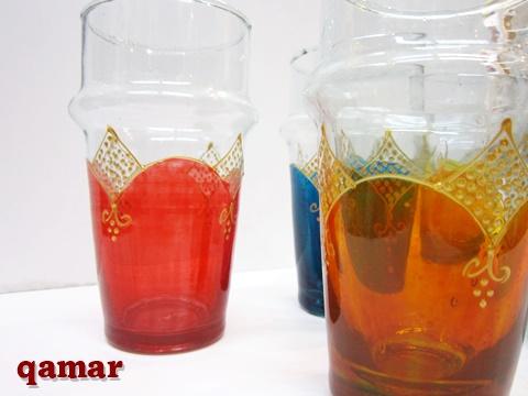 モロッコ ペイントリサイクルグラス