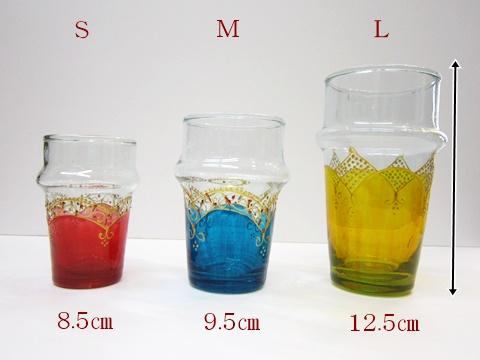 モロッコ ペイントリサイクルグラスS